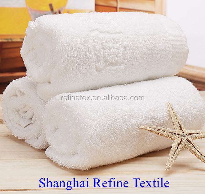 towel 100% cotton cut pile white long fiber towel set