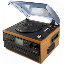 Oem turntable player gramophone player Classic Vintage turntable player with usb converter and cassette converter