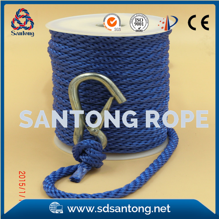 solid braided anchor line rope for marine boat
