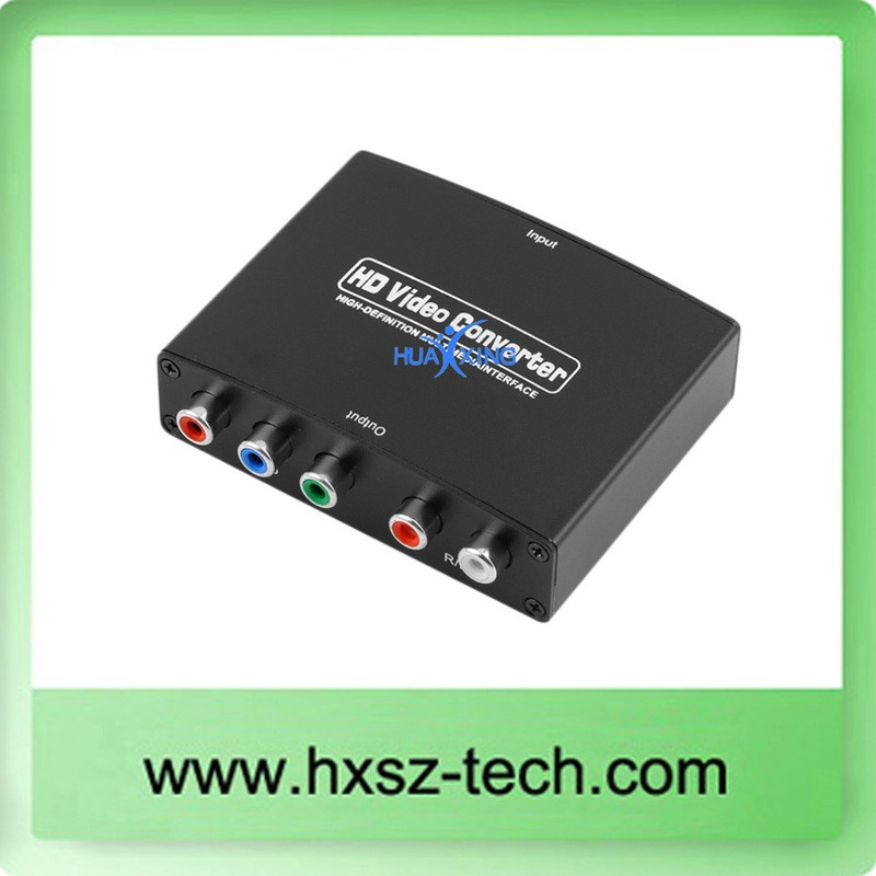 HDMI to RGB Component (YPbPr) video + R/L audio Adapter Converter HD
