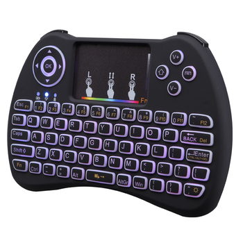Cheapest Colorful backlight Sleek and streamlined appearance design wireless keyboard