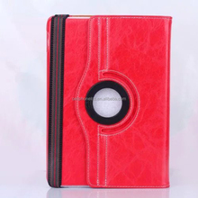 360 Degree Rotating Tablet PC Crazy Horse PU Leather Case with card slots for iPad