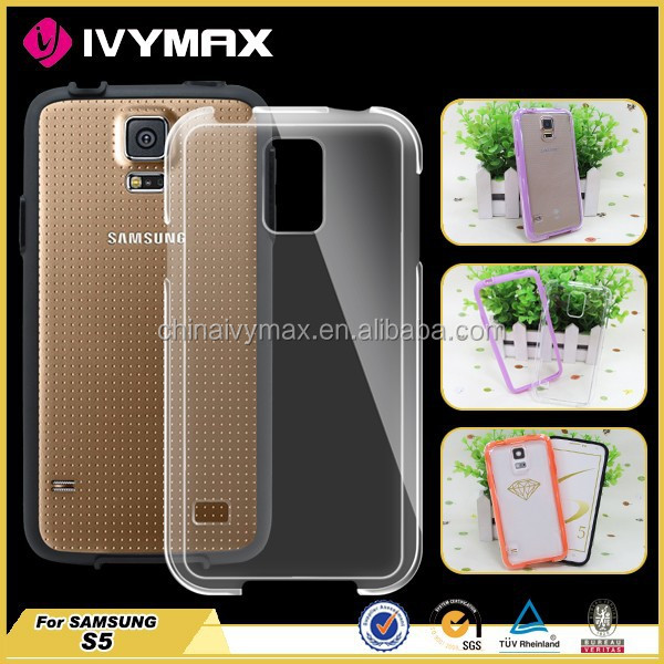 China phone accessory for samsung galaxy s5 transparent pc case