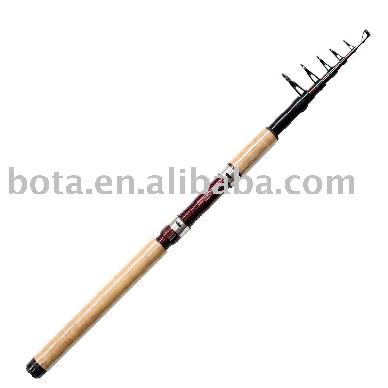 Carbon telescopic spinning fishing rod
