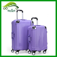 2015 100% Pure PP Fashion Design Trolley Luggage High Quality 4- Wheels Trolley Case