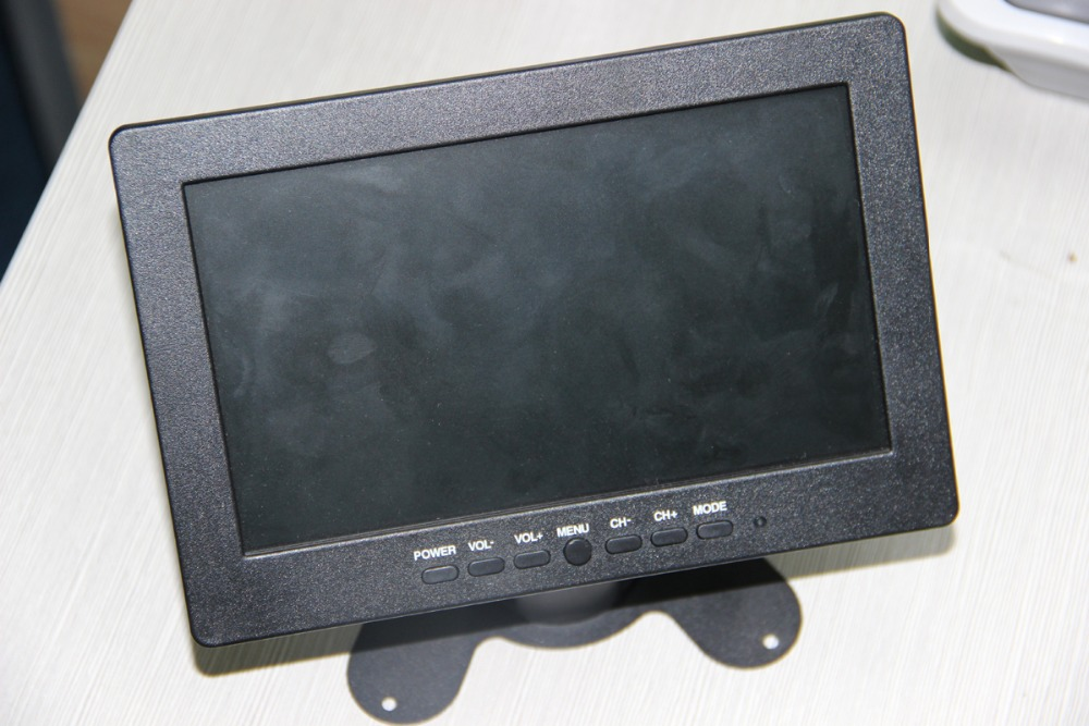 high quality widescreen 7inch used motorized lcd car monitor with AV