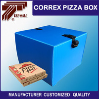 Customized Correx Corrugated Plastic Delivery Box For Scooter motorcycle Delivery Food Service