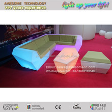 glow luxury hotel suite furniture / fancy led sofa for sale
