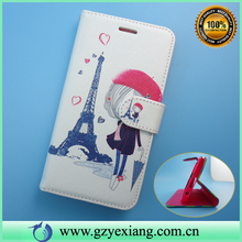 Cute Design Mobile Phone PU Leather Flip Case For LG Optimus G E975 Back Cover