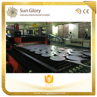 Sun Glory Stainless steel material blanking laser cutting disc production line