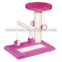UW-CT-022 Intelligent pink cotton scratching toys for cat leisure play