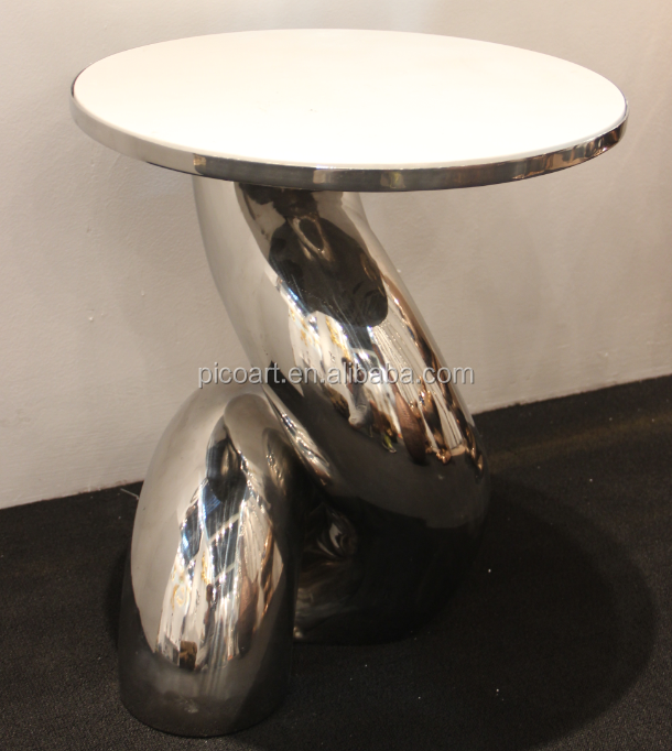 Handicraft mirror polished coffee table stainless steel large outdoor sculpture