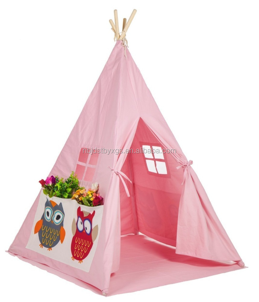 Sample room full canvas children kids play indian teepee tent