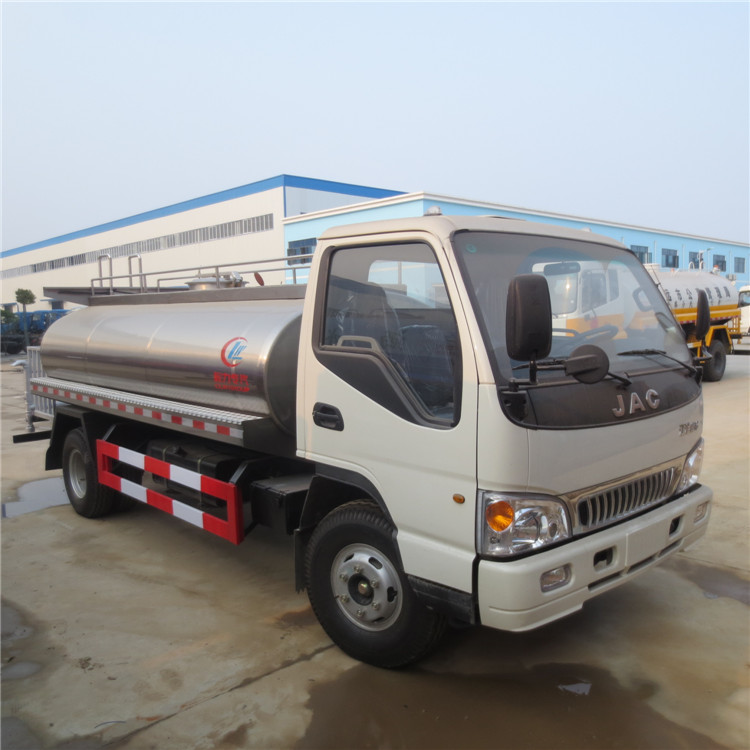Factory sale stainless steel 5m3 JAC water tank truck