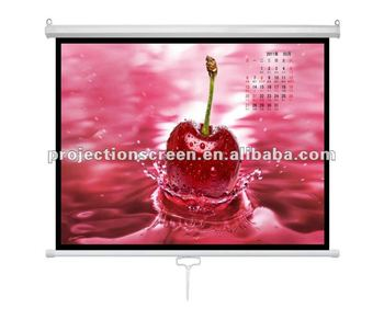 slow retraction self lock 120inch 4:3 matte white manual projection screen