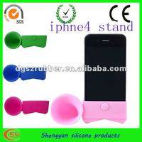 factory direct silicone amplifier mobile phone stand for iphone 4