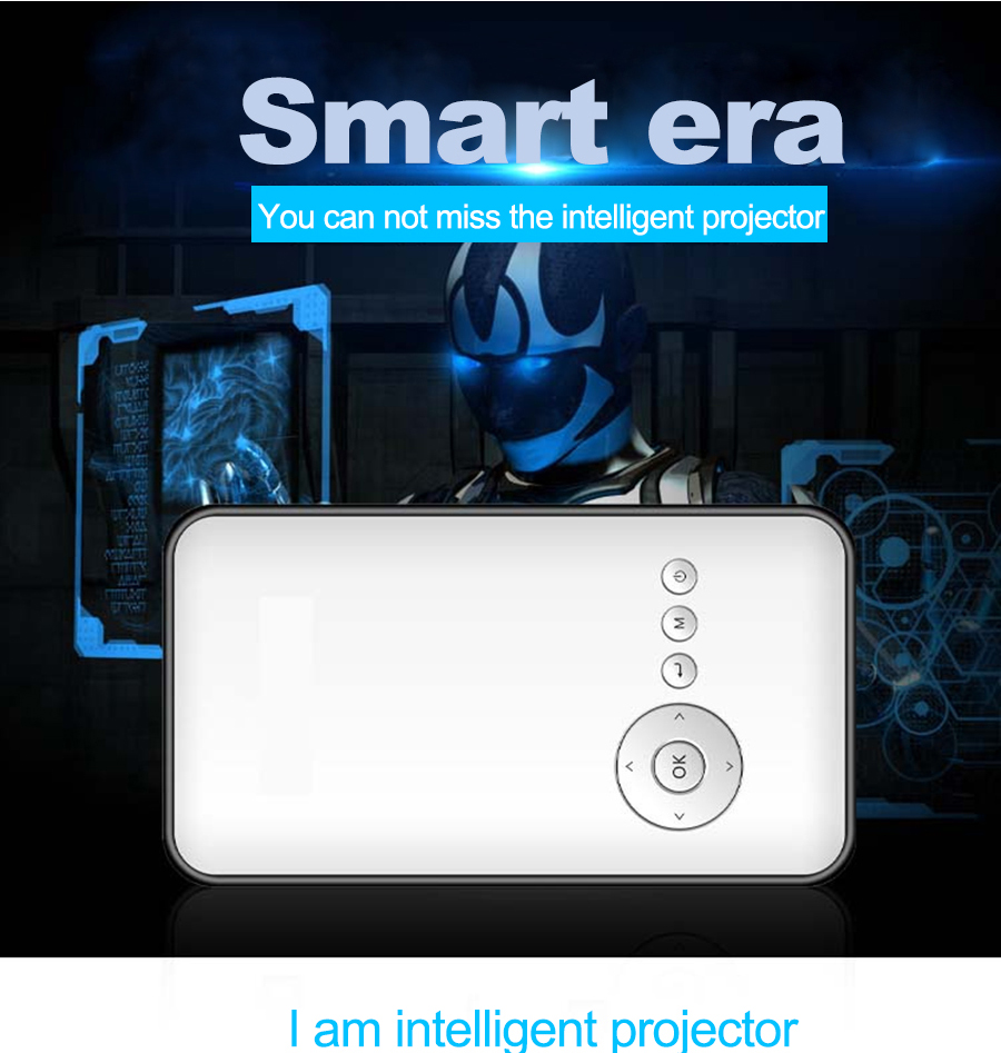 Cheap mini projector RK3128 Quad core android4.4 1G/8G LED projector with WIFI and Bluetooth