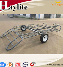 Steel material powder coated light duty China atv tow behind trailer