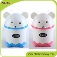 Non-toxic no smell desktop clear plastic garbage cans