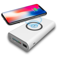 Hot selling 2018 Amazon Qi wireless charging power bank 8000mah 10000mah 20000mah powerbank wireless charger for Xiaomi