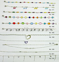 Range of 925 Sterling Silver Anklets - page1
