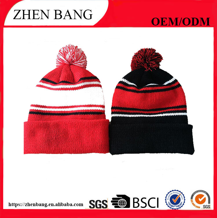 100% acrylic with woven factory custom logo of winter beanie hat