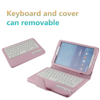 High quality Ultra-thin Detachable Bluetooth Keyboard Stand Portfolio Case for Samsung Galaxy Tab E 8.0 tablet
