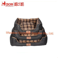 checked printed fabric plush luxury pet bed, oxford sofa orthopedic dog bed, new products for cheap dog bed
