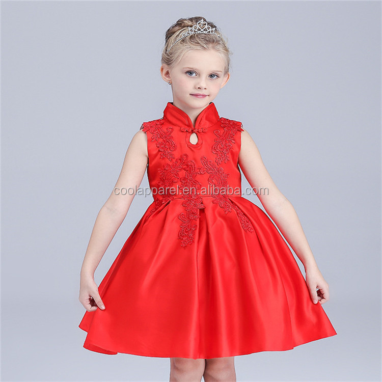 2016 fashion baby cotton frock design for 3 years old girl wear
