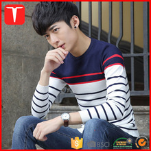 Fashion striped pullover sweters for man