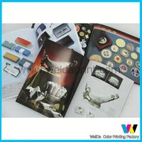 glossy print paper brochure,custom wholesale hair color catalogue