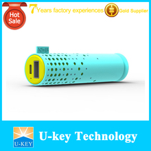 best quality cylinder rubber finished mobile charger 3000mAh full color best power bank brand
