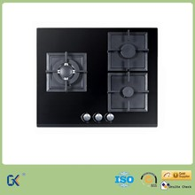 Clear Photos Ceramic Glass Top 3 Burner Gas Stove Cooktop