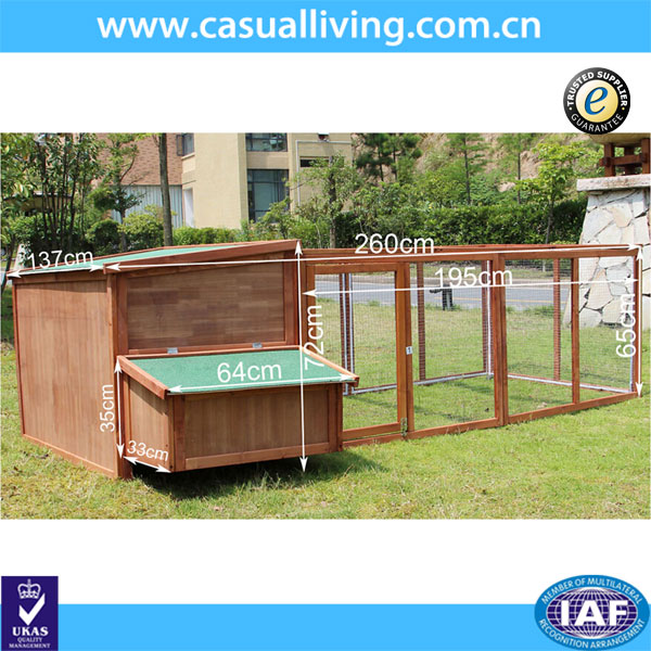 Extra Wooden Running Backyard Pet Animal Cage