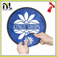 Cheap Nylon foldable frisbee with pouch nylon foldable hand fans