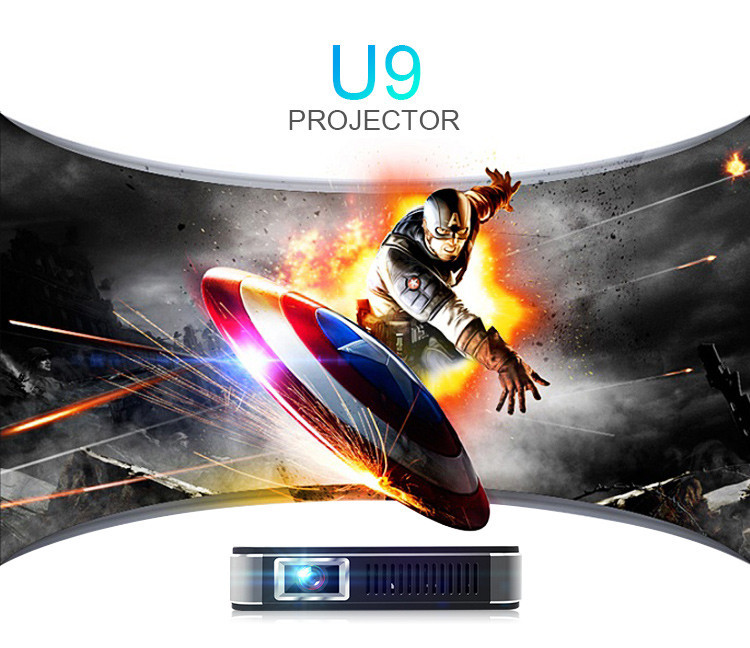 2016 Cheap DLP projectors mini LED Portable mobile 3D 1920x1080 U9 mini projector