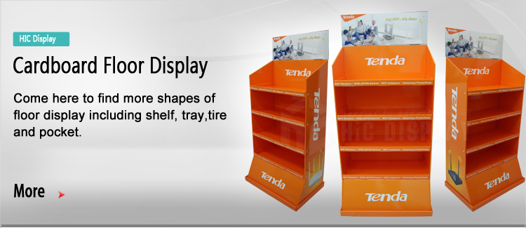 Retail custom cardboard display rack for dog food