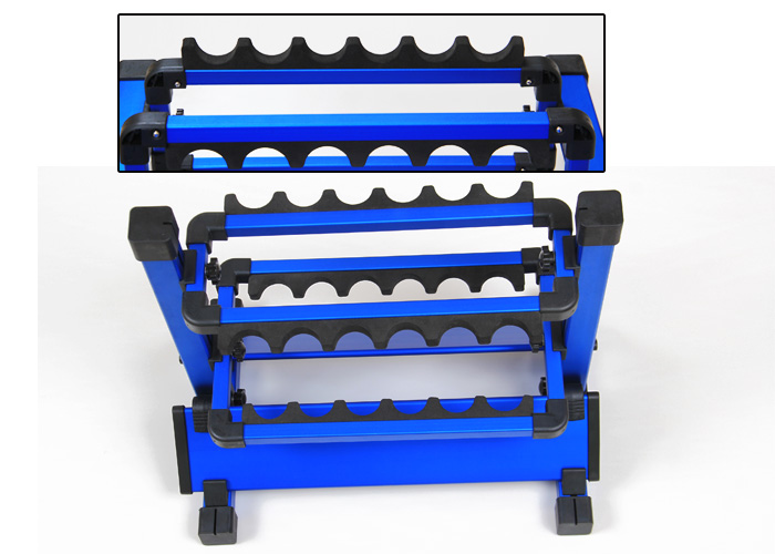 Weihai ILURE 2015 Max Hold 12 Rods Aluminium Alloy Fishing Rod Rack