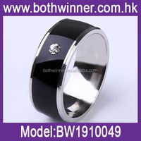Black inlay ring ,H0T104 low cost nfc smart ring for sale