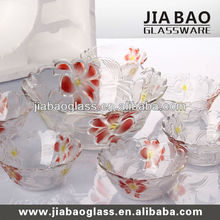 7PCS Colored glass salad bowl set, glass fruit bowl set,colored glass dinnerware sets TZ7-GB16005/PDS1