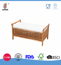 comfortable wooden bench