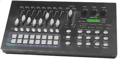 16 channel programming console with MIDI & DMX interface