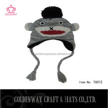 fashion pretty simple hand make soft baby animal hat monkey hats