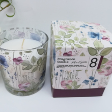 Floral Luxury Pure Soy Wax Plam Wax Scented Candle With Wedding Birthday Gift Set home Decoration