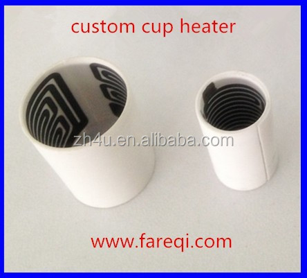battery powered cup ceramic heating element with inside heated