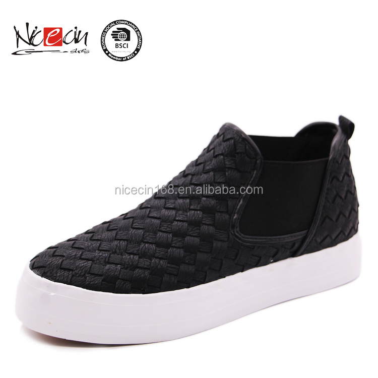 2016 hot selling slip on thick rubber sole vulcanized casual shoes men