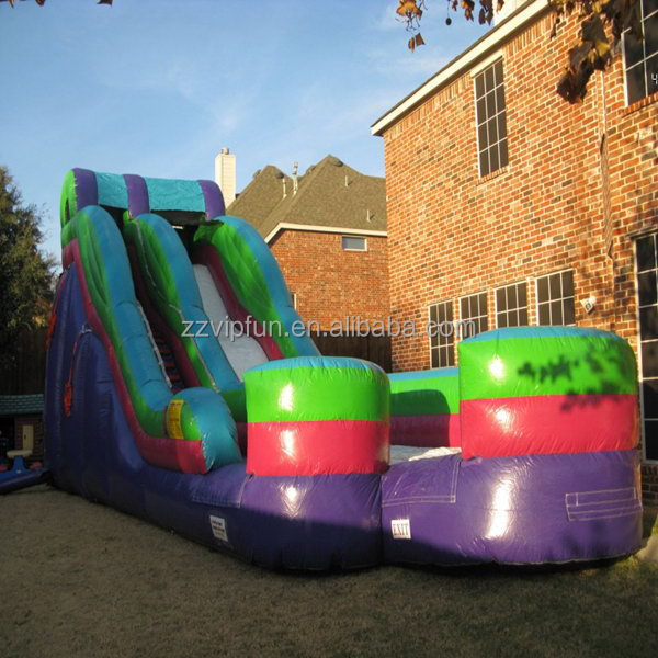 2014 best selling large land inflatable slide