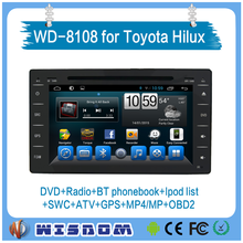2016 new car radio navigation system for toyota hilux 8 inch touch screen in-dash car dvd gps car dvd player with wifi bluetooth