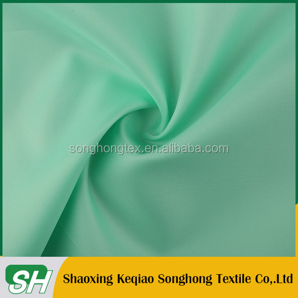Stock polyester lining shaoxing/ Tear-Resistant 250T twill taffeta lining for garment