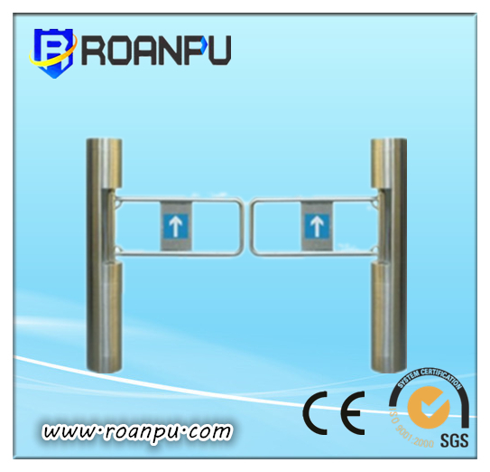 TCP/IP Pedestrian Access Control Swing Barrier Gate Integrated Rfid Card Reading System